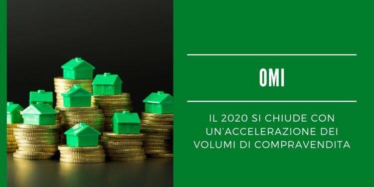 OMI: il 2020 si chiude con un'accelerazione dei volumi di compravendita